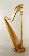19th century harp, Charles Lindeman Chicago, number 800