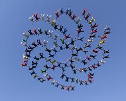 Skydiving, record attempt, EAA, Oshkosh