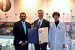 White Plains Mayor Thomas Roach presents Burke Rehabilitation Hospital with proclamation and names January 22 Burke Rehabilitation Hospital Day.
