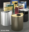 "Glaro Inc. Announces New Line of 24"" Wide Half Round Waste Receptacles"