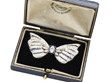 Exceptional Diamond Sapphire Bow Brooch Circa 1930