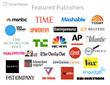 Major publishers featured on SmartNews