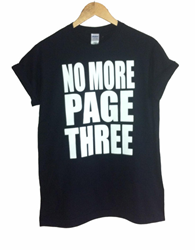 No More Page 3 T Shirt