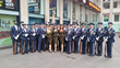 The American Bombshells and the U.S. Air Force Drill Team.