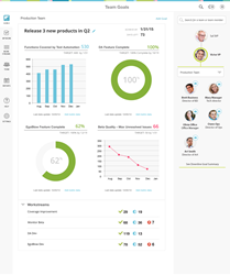 Goals & Metrics dashboard