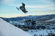 Monster Energy's Cory Davis Silver Snowmobile Long Jump X Games Aspen 2015