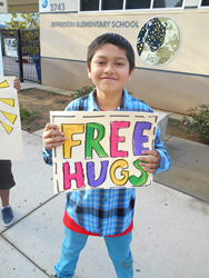 Free Hugs at Jefferson Elementary