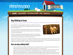 Screenshot of the Fluffable dog walking page, January 2015