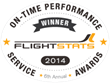 FlightStats 2014 Airline On-Time Performance Service Award Winners...