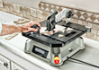 Rockwell BladeRunner X2 quickly cuts ceramic tile.