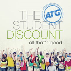 A new ATGStores.com program offers students a year-round 10 percent discount to help defray school expenses.