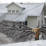 Winter storms can bring down power lines.