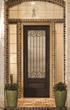 Borrassa Glass in Classic-Craft Mahogany Door from Therma-Tru