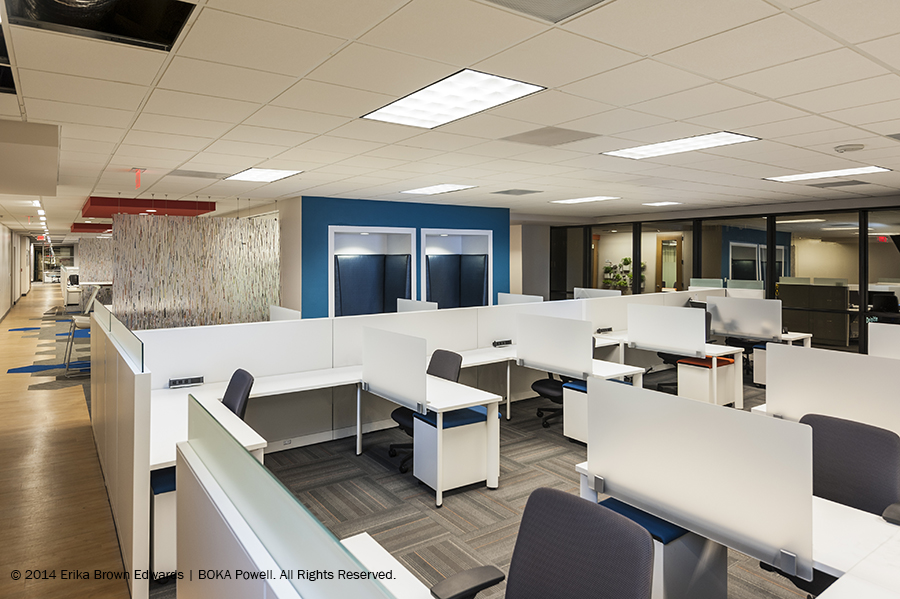 Along The Office Perimeter Floor To Ceiling Windows Offer Sweeping Views Of Downtown Dallas Connecting Employees CityC 2014 Erika Brown Edwards