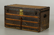 Louis Vuitton steamer trunk, Damier pattern, serial number 48289