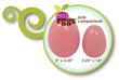 "eco eggs now available in smaller size, 2.25"" x 1.5"""