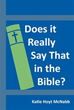 New Book: 'Does It Really Say That In The Bible?'
