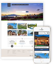 Responsive website Exotic Estates luxury vacation rentals.