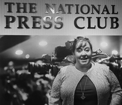 Ariana Ayu at the National Press Club in Washington, DC
