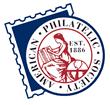 The American Philatelic Society logo.