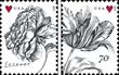 United States Vintage Rose and Vintage Tulip stamps.