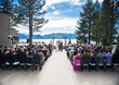The Landing Resort & Spa's 3,600-square-foot Rooftop Terrace overlooking Lake Tahoe provides a memorable and photogenic venue for wedding ceremonies (Photo by Indigo Photography).