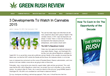GreenRushReview.com Reports on Cannabis Developments to Watch Out For...