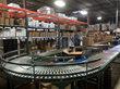 Conveyor belt at new coffee roasting and distribution facility