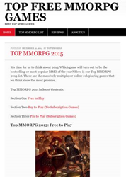 Top Free MMORPG Games 2015