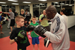 Roger Mayweather trains kids at the Mayweather Training Camp in Baldwinsville, NY