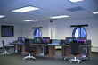 CommandTech economical console stations are integrated with power and cable management, modular construction and optional slat wall for mounting LCD monitors.