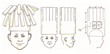 Schematic Drawing of String Cheese Hat