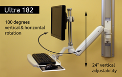 Ultra 182 Sit-Stand Workstation
