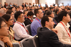 A rapt audience listens to a plenary speaker during a session at SPIE 2014 Advanced Lithography.