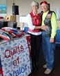 Elaine and Les Page, who make Quilts of Valor