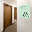 Meeting room sign from Signbox's new Matt range