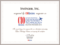 Invincea CIOReview top 20 most promising Defense Technology Solution Providers 2014