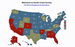 South Coast Surety is a National Bond-only Surety Wholesaler