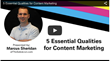 Five Essential Rules For Successful Content Marketing: Shweiki Media Printing Company Presents a Must-Watch Webinar