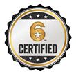 """""""6 Certified"""" Badge"""