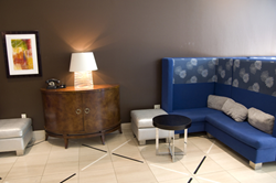 Hotel lobby with furniture staged by IndiaCADworks