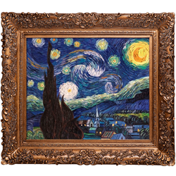 Vincent van Gogh's 'The Starry Night' is the most popular art sold by overstockArt.com in New York City.