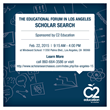 C2 Education Sponsors the Scholar Search at L.A.'s Educational Forum