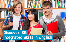 Students of English language in a library