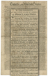 Three rare 1789 issues of the New York Gazette of the United States newspaper containing:  o The earliest obtainable printing of the Bill of Rights.  Estimate $30,000-$60,000