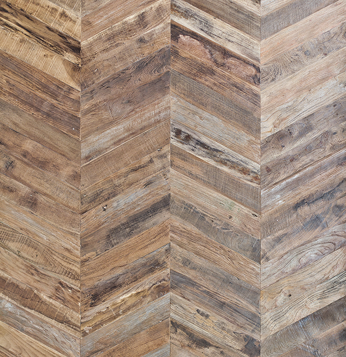 chevron template for walls - responsible reclaimed teak pioneer millworks donates