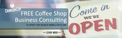 Crimson Cup Coffee & Tea offers free coffee shop business plan consulting