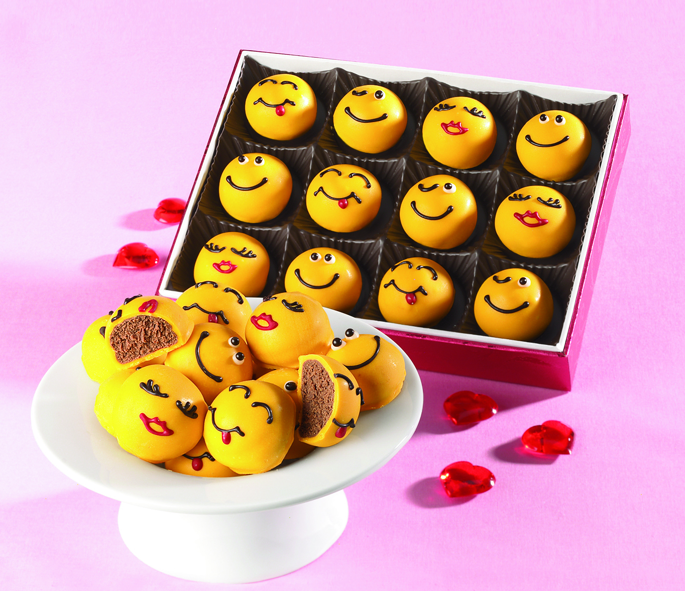 These Text Inspired Truffles Are Fun For Everyone On Valentineu0027s  Day.Emoticon Chocolate Truffles From The Swiss Colony.