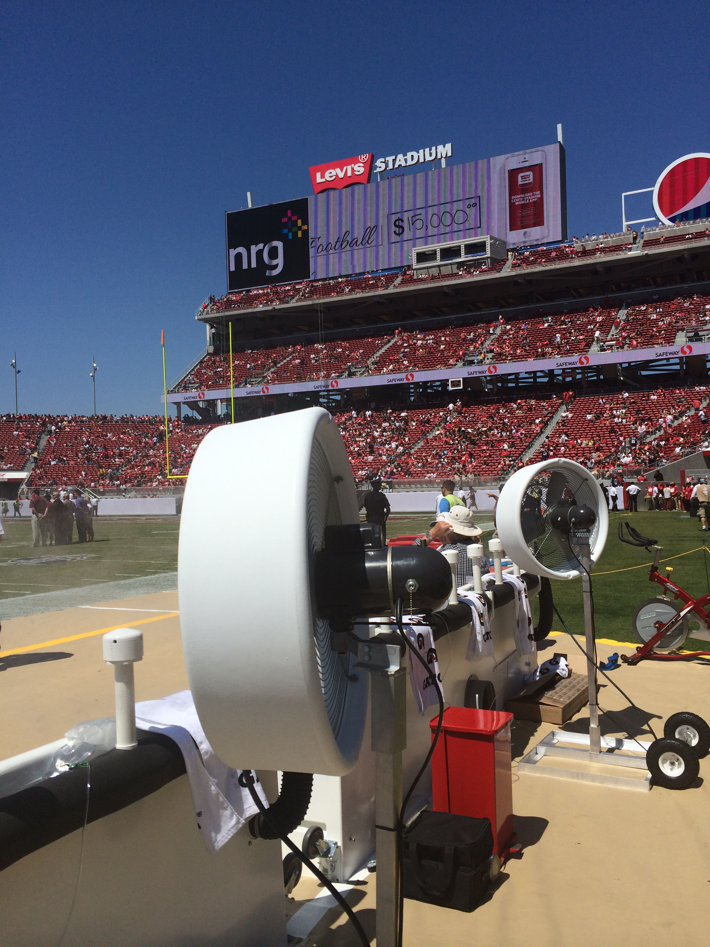 Misting Fans Texas : Big fogg to provide misting fans for both seattle seahawks
