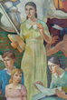 Detail: Life of Contemplation, Carl W. Peters, 1937. Mural. Photography: Fotowerks/St. Clair Photo Imaging, Rochester, NY